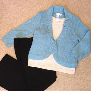 Woven cardigan sweater jacket